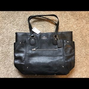 Coach - Black Leather Micke Tote - NWT